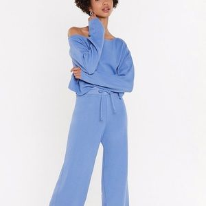 ISO Nasty gal Slow Down Sweater Joggers Lounge Set